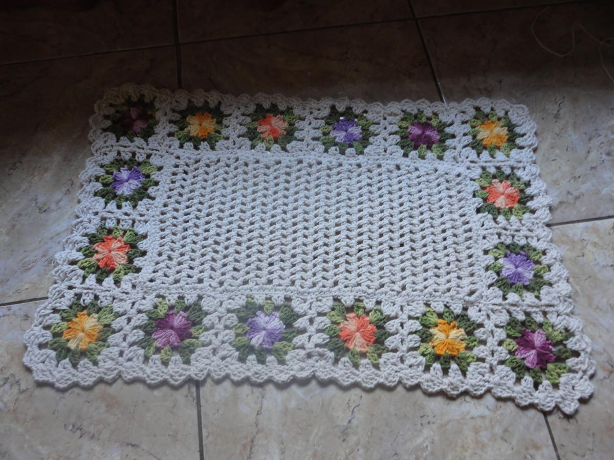 Tapete floral no elo7 de croche 2c0573 for Tapete floral