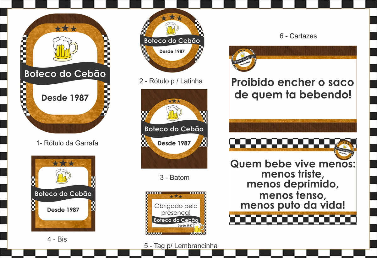 decoracao festa boteco personalizada:Festa Personalizada Boteco