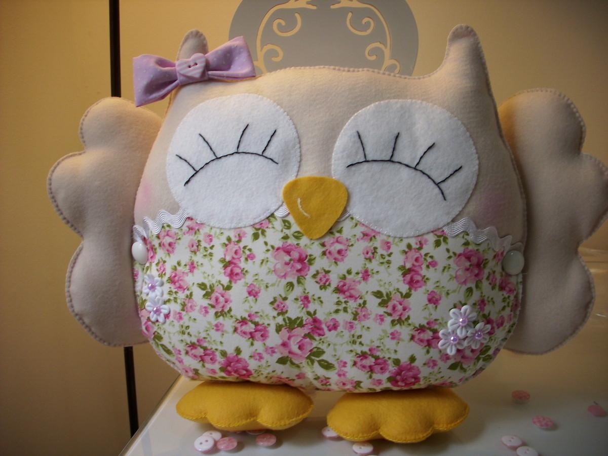 coruja almofada de feltro coruja almofada de feltro coruja almofada de ...