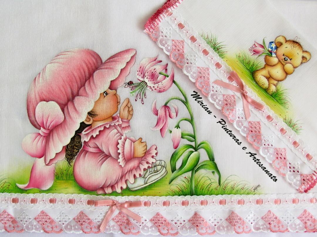 Kit Luxo De Fraldas Menina Com L&237rios #407514 1080 810