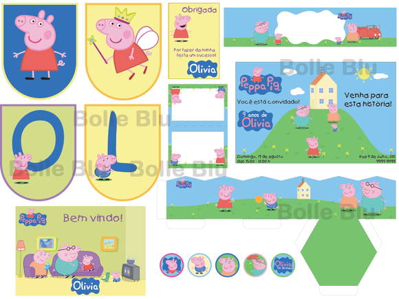 Peppa Pig Kit Completo Festa Digital