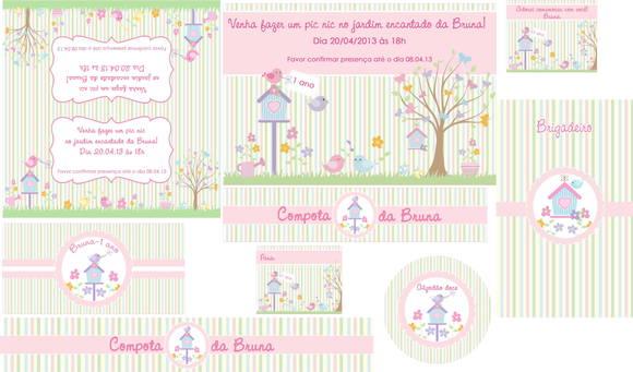 Pin Kit Festa Digital Jardim Encantado on Pinterest
