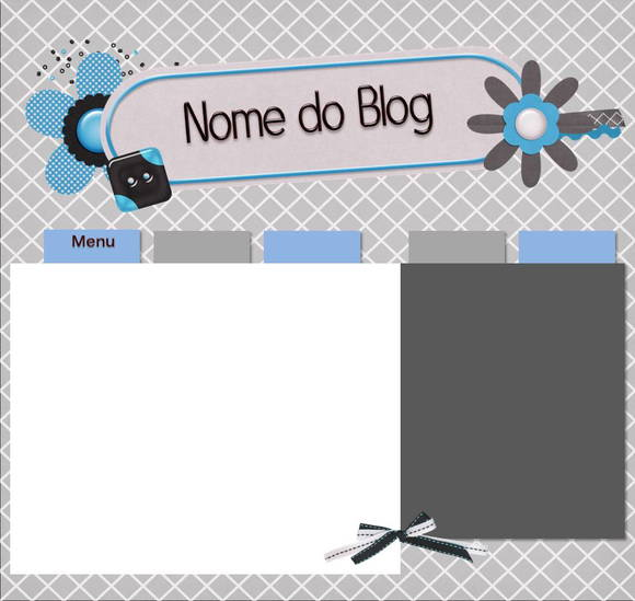 Template para Blog -Flore Blue 2011