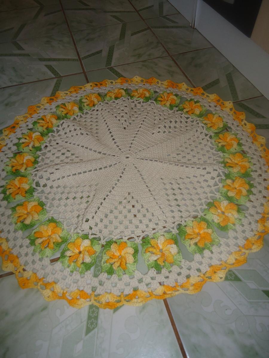 tapete flor catavento edina nekipa croche elo7. Black Bedroom Furniture Sets. Home Design Ideas