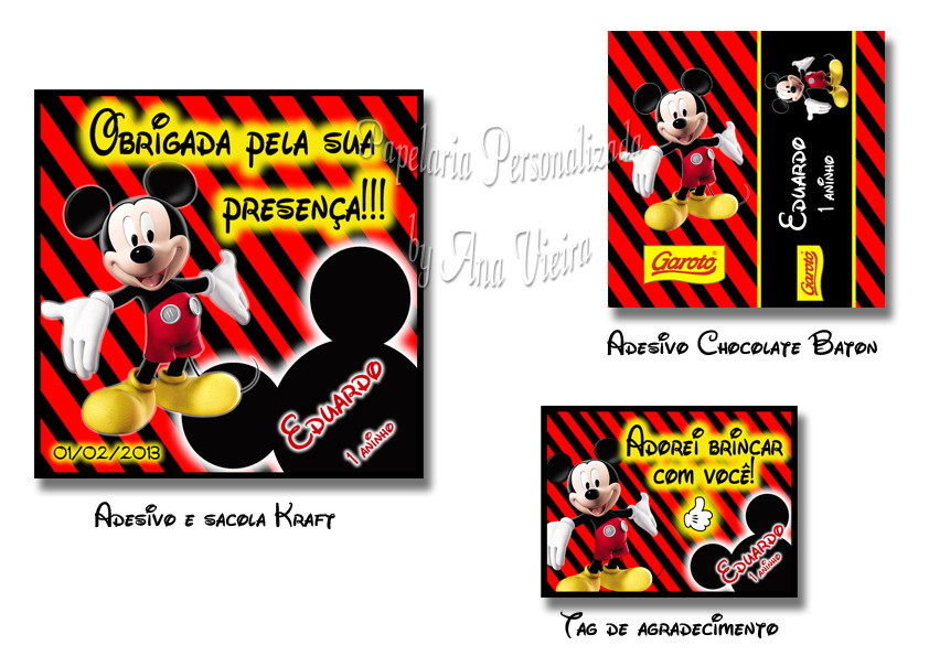 Kit Festa Mickey Mouse