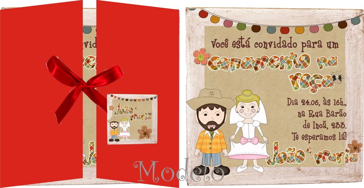 Convite Casamento na roça | Andrews Convites e Lembrancinhas | Elo7