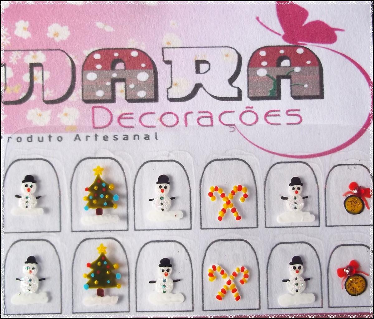 Armario Sin Puertas Niños ~ Adesivo de unha natal Nara Decorações Elo7