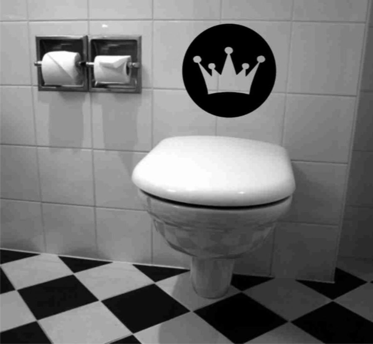 Adesivo De Banheiro Coroa De Rei Adesivo De Banheiro Coroa De Rei  #272726 1200x1105 Azulejo Listrado Banheiro