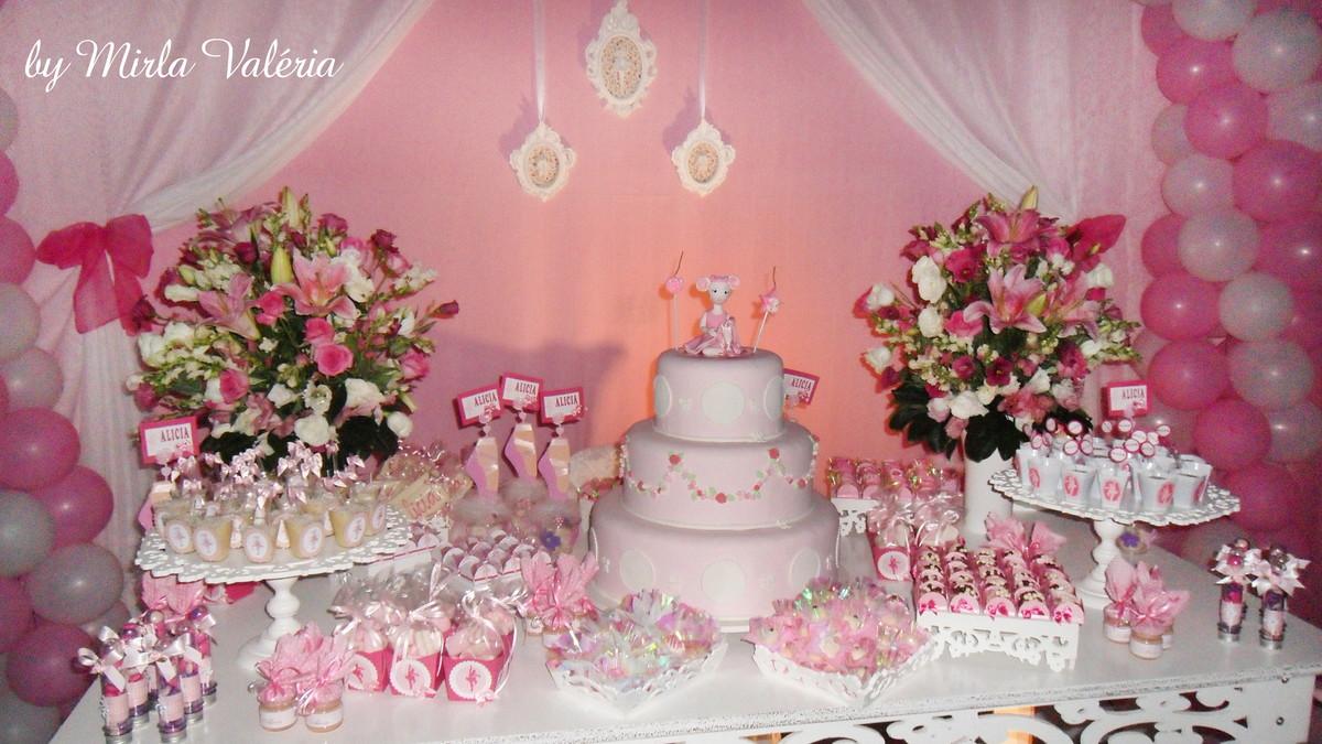 Loca o mesa decorada angelina ballerina mirlaine - Mesa de navidad decorada ...