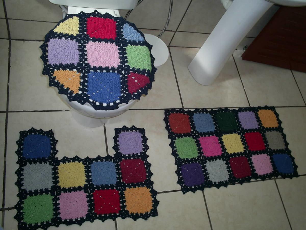 jogo de banheiro quadrados coloridos jogo de banheiro quadrados  #6C1D2C 1200 900