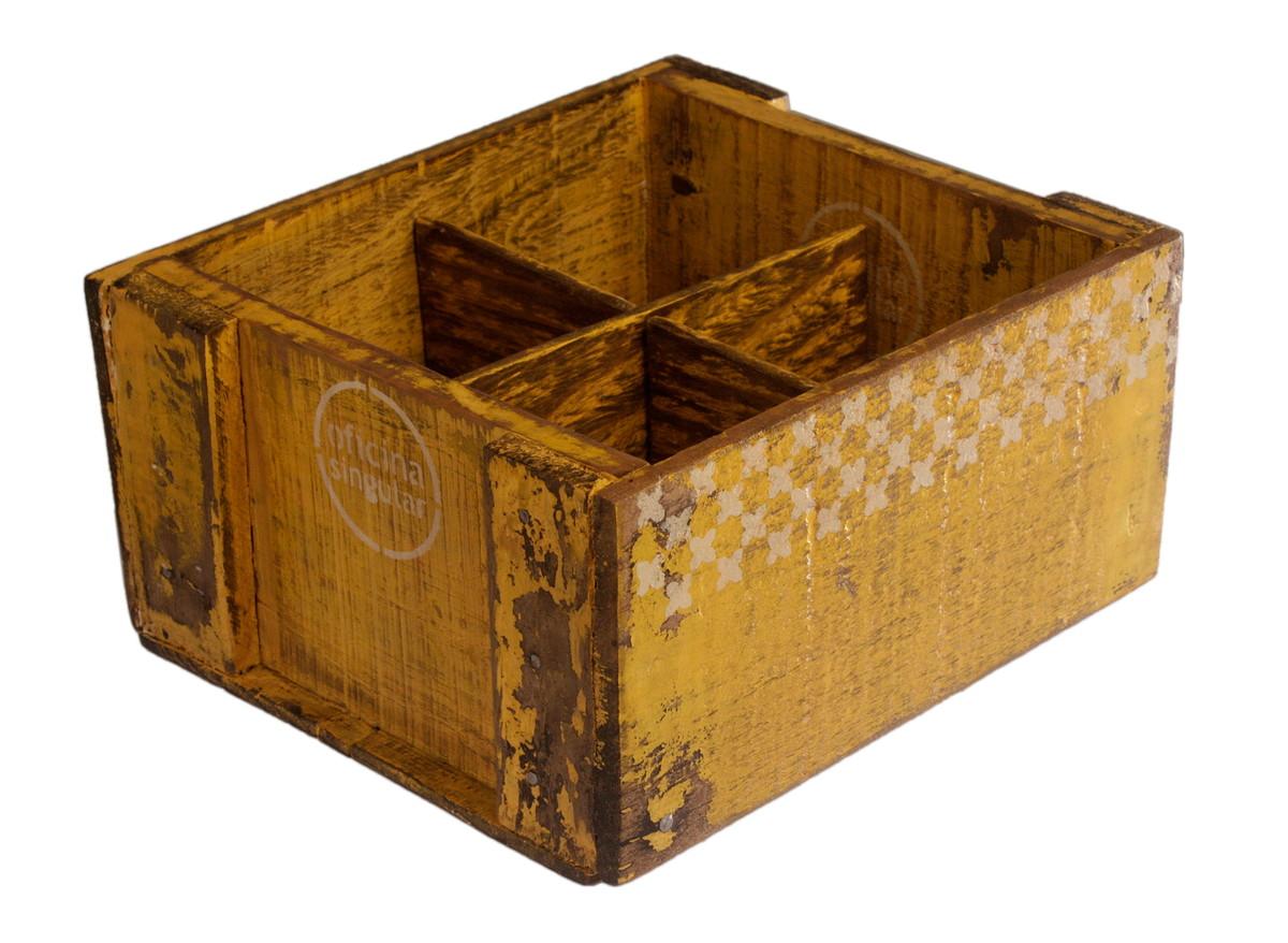 Galheteiro Eco Amarelo Bico de Tucano Oficina Singular Elo7 #71410C 1200x878