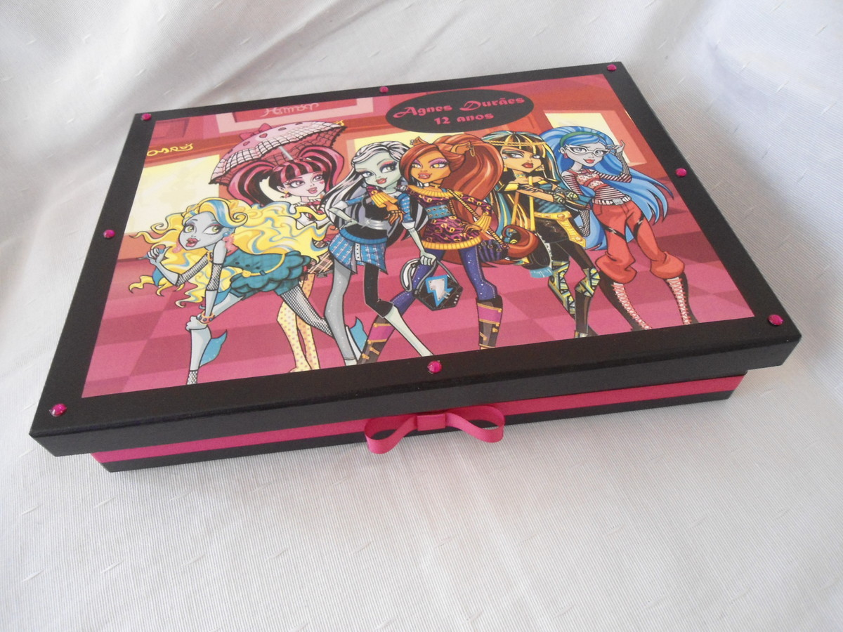 Caixa Para   Lbum De Fotos   Monster High