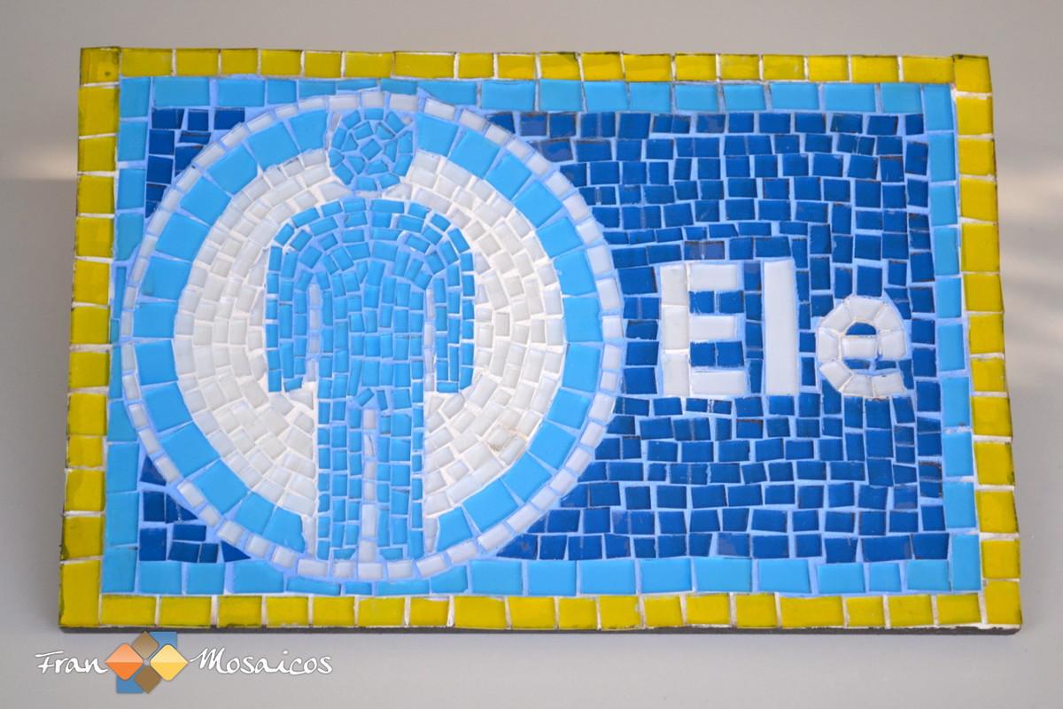 placa indicativa para banheiro mosaico placa indicativa para banheiro  #C5A806 1200 800