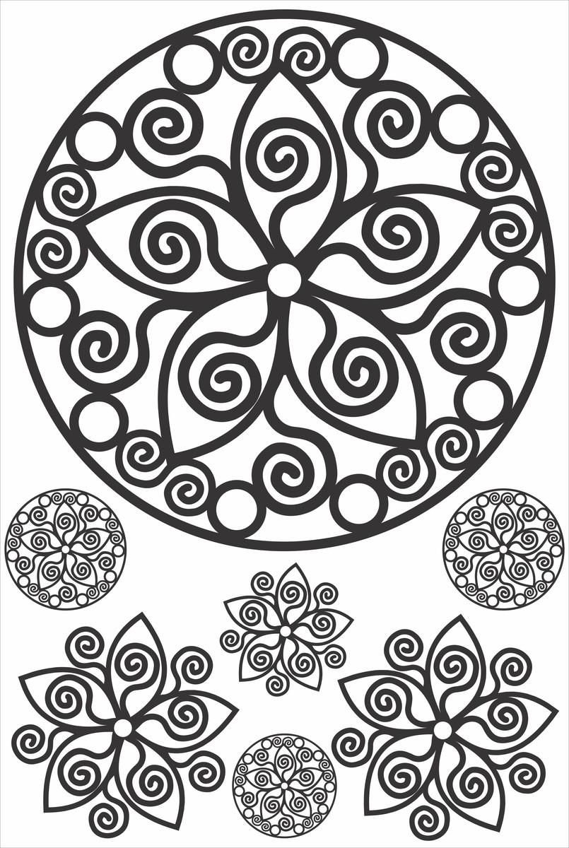 Como Fazer Artesanato Reciclagem De Garrafa Pet ~ Adesivo Mandala Frete Grátis! On The UAU! Adesivos, Azulejos& Painéis Elo7