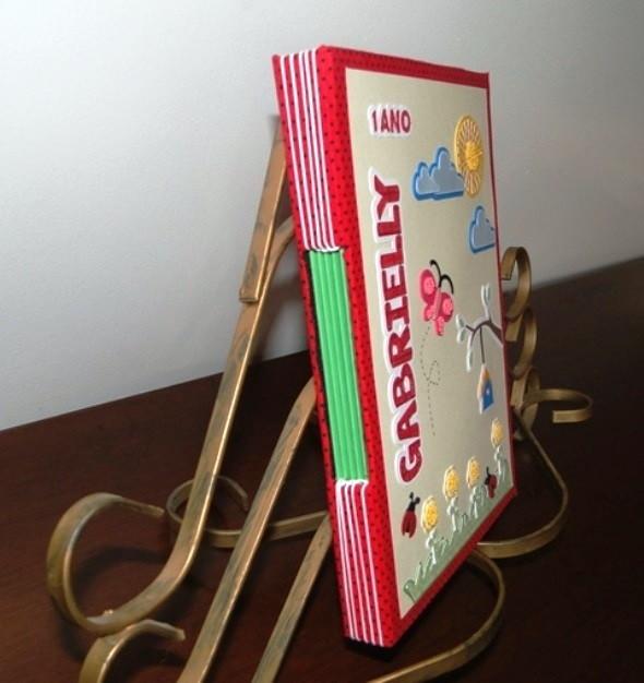 Adesivo Para Box De Banheiro ~ Álbum encadernaç u00e3o artesanal Jardim Scrap e Feltro em Festa Elo7