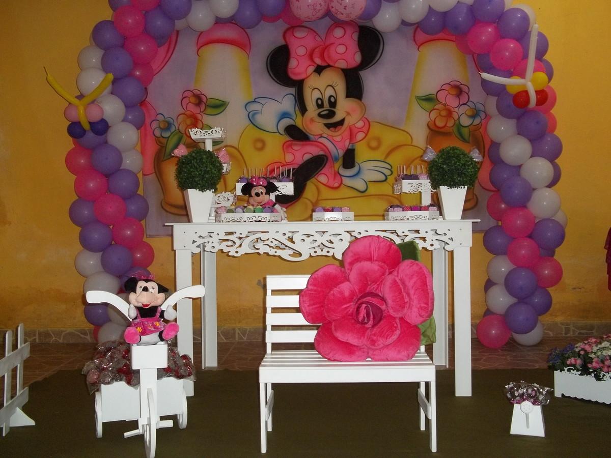 Festa da Minie rosa Ale Decoração M Elo7 ~ Quarto Rosa Da Minie