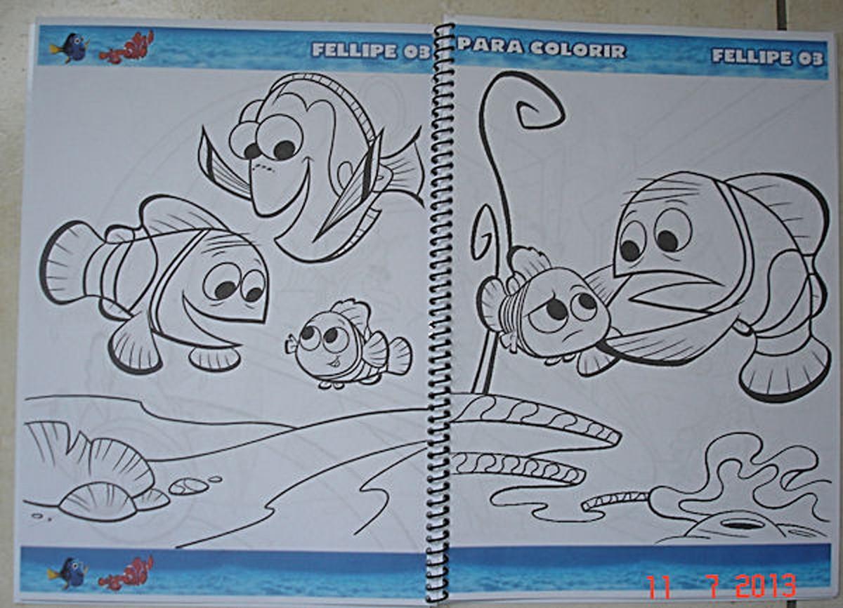 Livrinho De Colorir Procurando Nemo