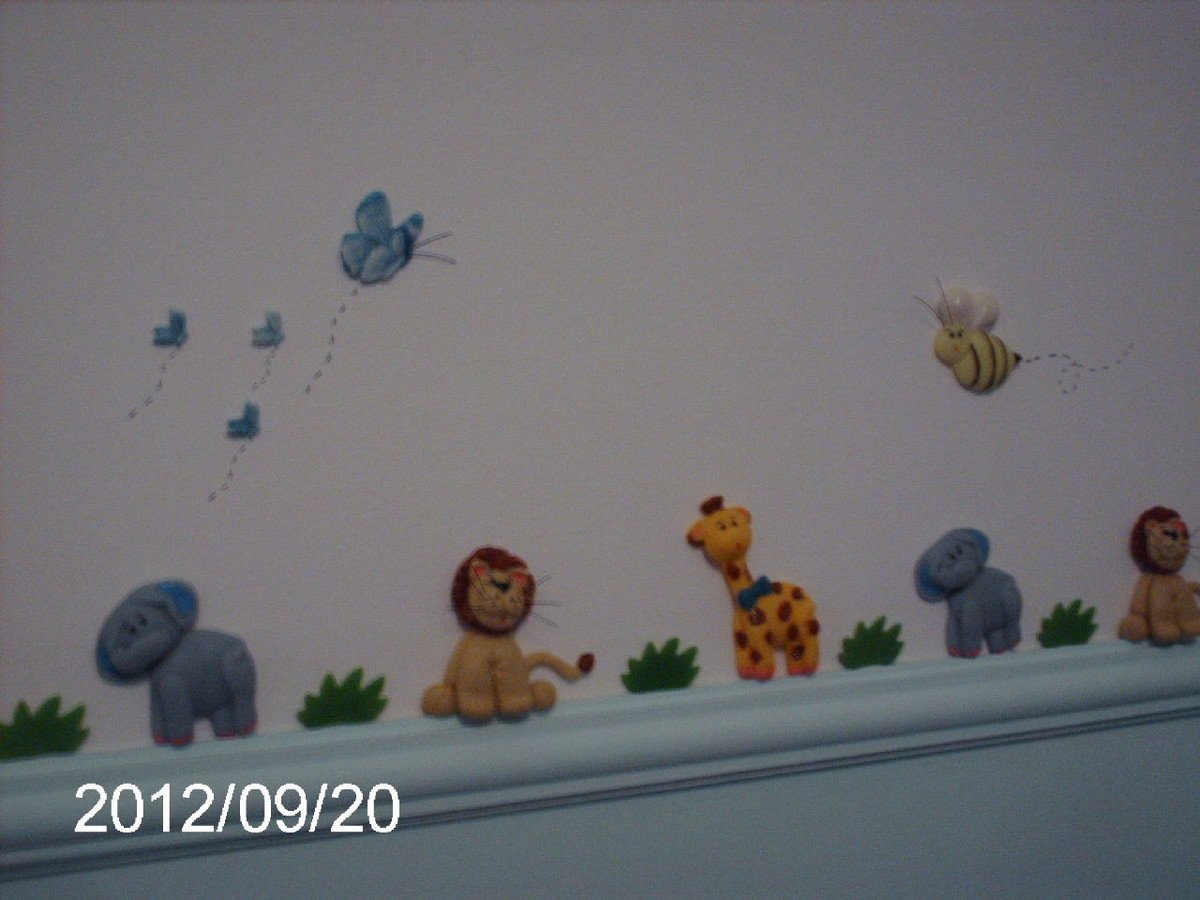 Bichos da selva para decoração de quarto  Veriart Lembrancinhas Moldes e Asc