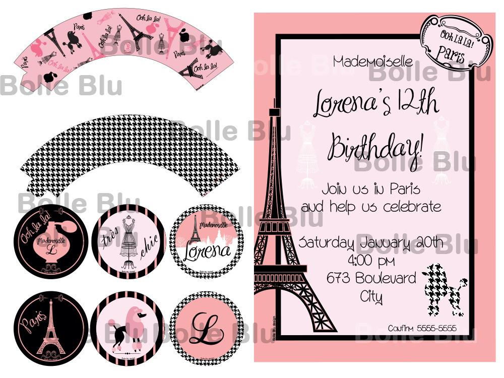 Adesivo Símbolo Da Paz Branco 20 Cm No Elo7: Paris Pied Poulle Kit Festa Digital Chic No Elo7