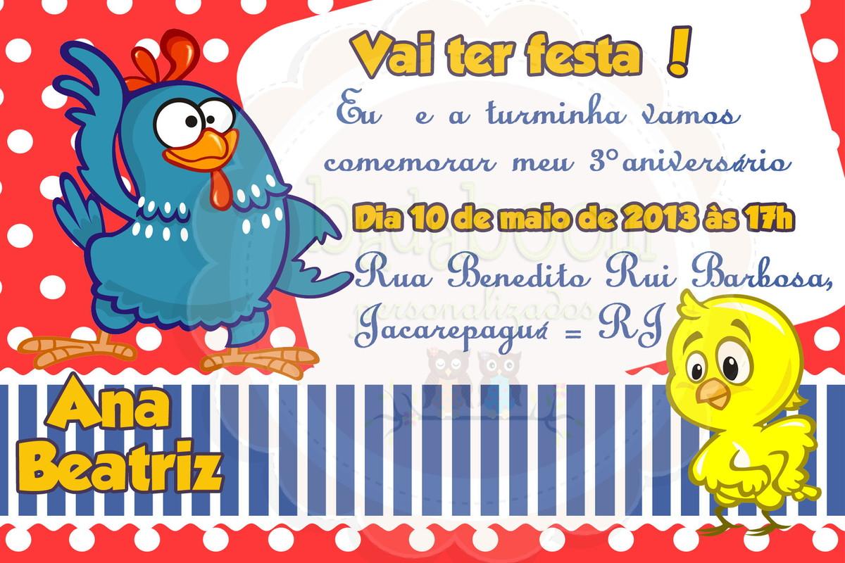 Convite Galinha Pintadinha (arte) no Elo7 Badaboom