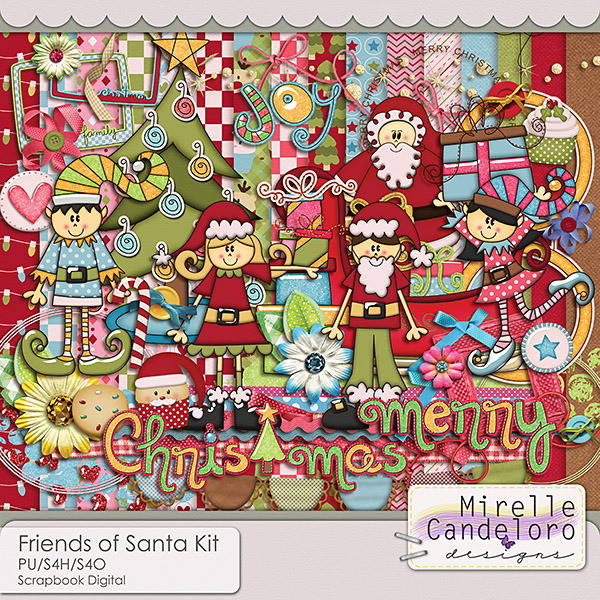 Digital Kit Friends of Santa