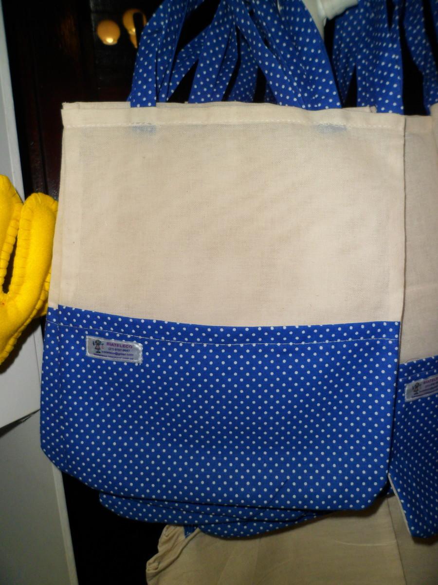 Bolsa De Tecido Cru : Bolsa em tecido cru com bolso biateleco arte feltro
