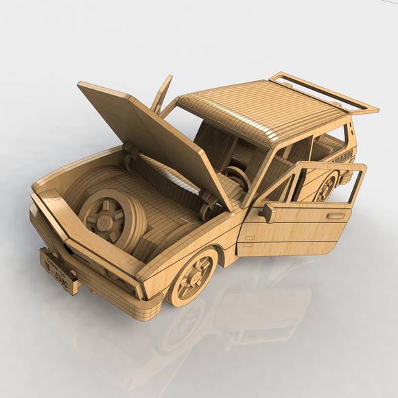 mdf replica quebra cabeca 3d carro brasilia em mdf brinquedos quebr