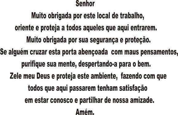 Oração Cigana Para Proteção No Trabalho: ORAÇÃO DO TRABALHO - ADESIVO No Elo7