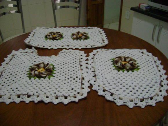 Pics Photos  Jogo De Tapete De Banheiro Em Barbante Croch Mlb F 4801165220 0 -> Banheiro Decorado Com Croche