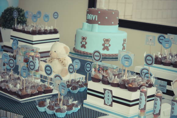decoracao festa urso azul e marrom:ursinhos decoracao azul marrom festa azul e marrom ursinhos