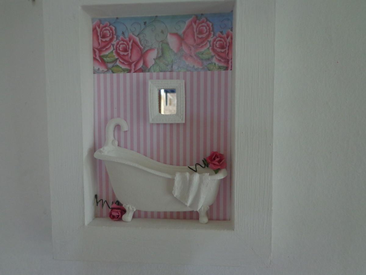 banheiro miniatura meu mimo quadro em resina banheiro miniatura meu  #664147 1200x900 Acessorios Banheiro Em Resina