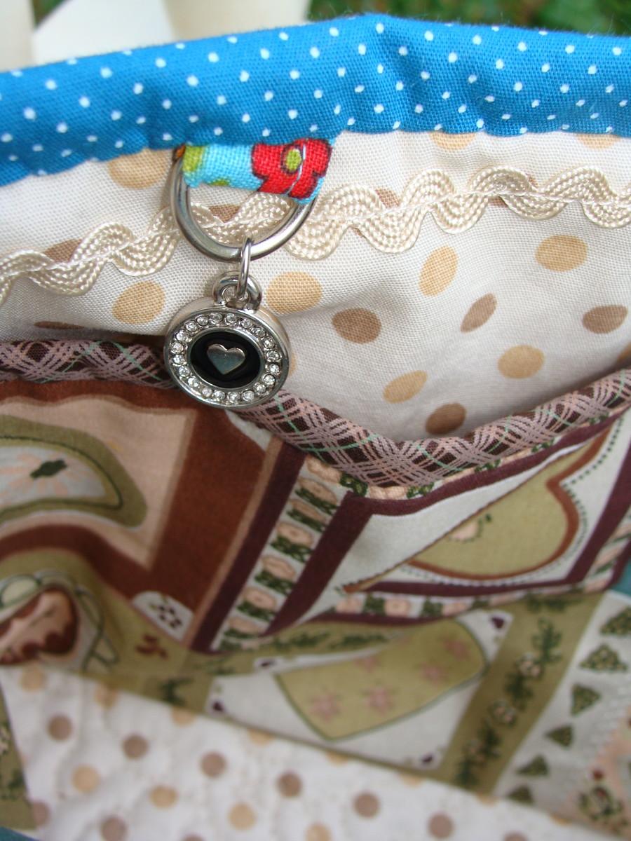 Bolsa De Tecido Vintage : Lola anizador de bolsa love vintage mariana raque elo