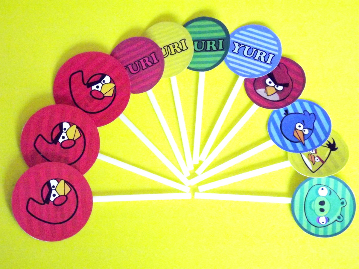 Toppers Personagens Angry Birds: Topper Angry Birds