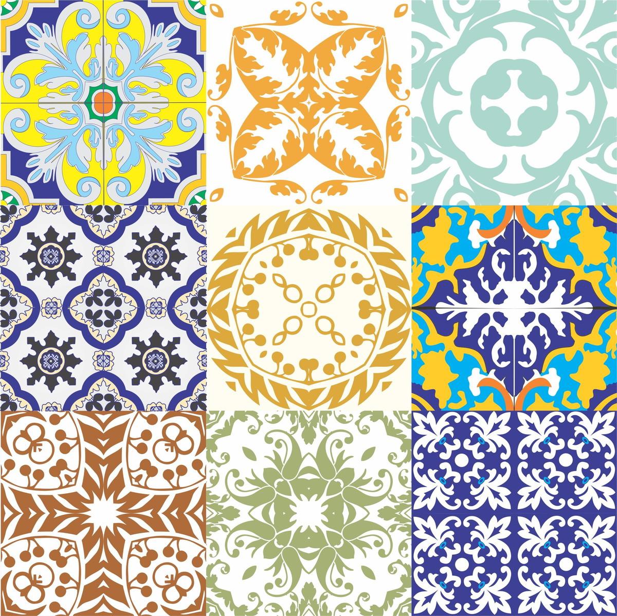 Kit adesivo azulejo antigo frete gr tis no elo7 on the for Azulejos de ceramica