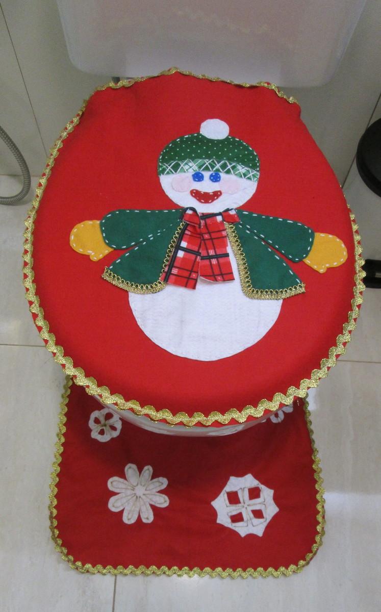 Tapete Natal  Banheiro  Boneco de Neve  Feito Do Meu Jeito  Elo7 -> Decoracao Banheiro Natal