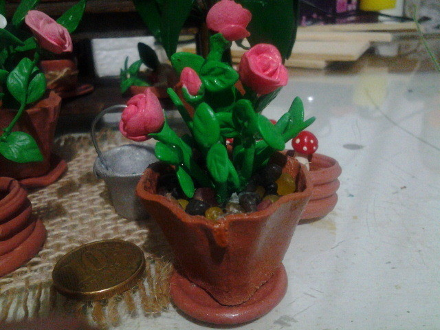 Artesanato Jardim Da Estrela ~ Jardins em Miniatura de Biscuit Artesanato reino dévico Elo7