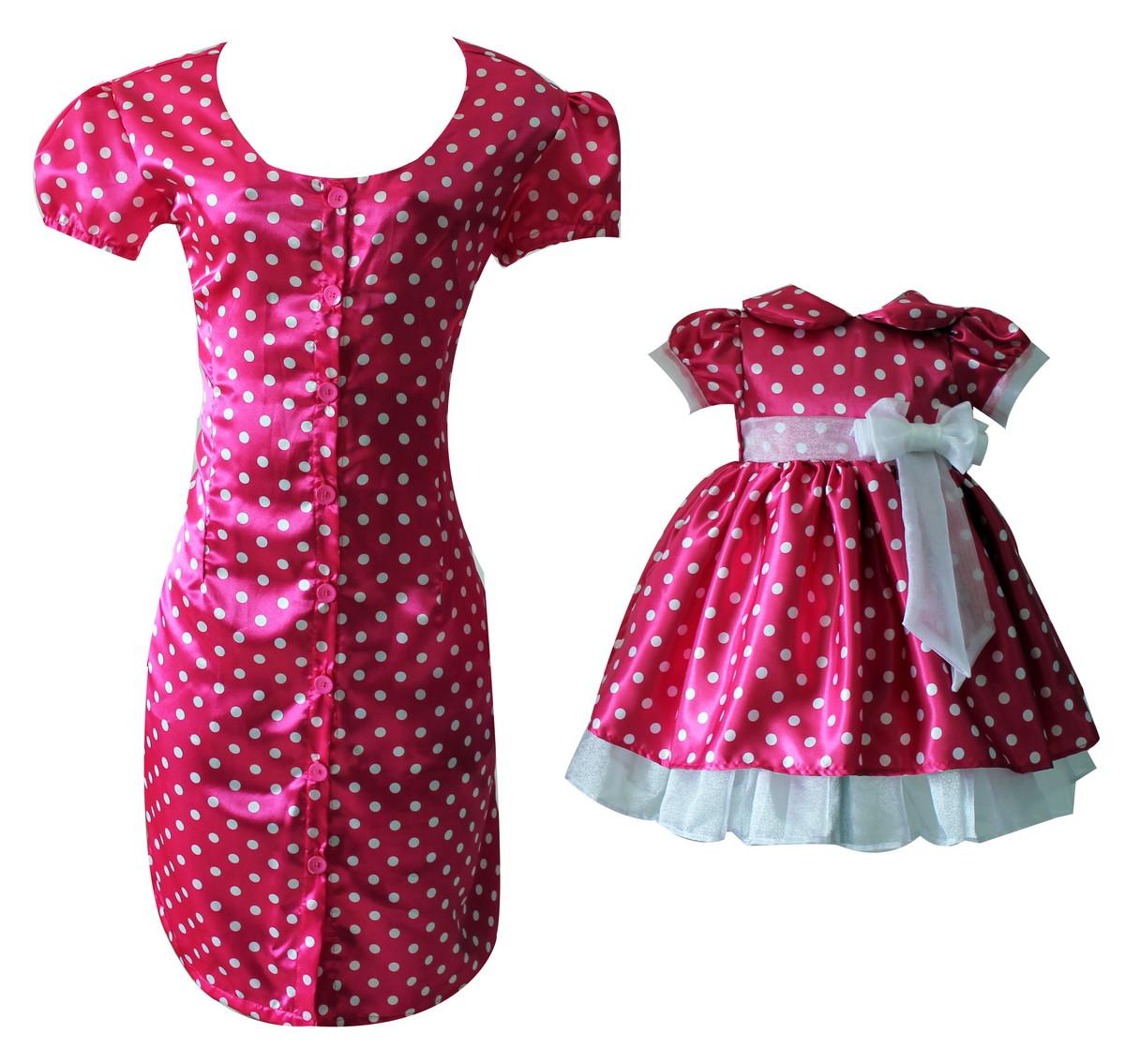 Vestido Mae E Filha Minnie Rosa 1088 Vestido Mae E Filha Jpg | Car ...