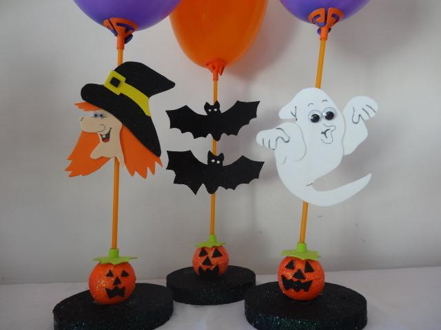 Enfeite de Halloween  Buum Balloon Elo7 -> Decoracao Para Mesa Halloween