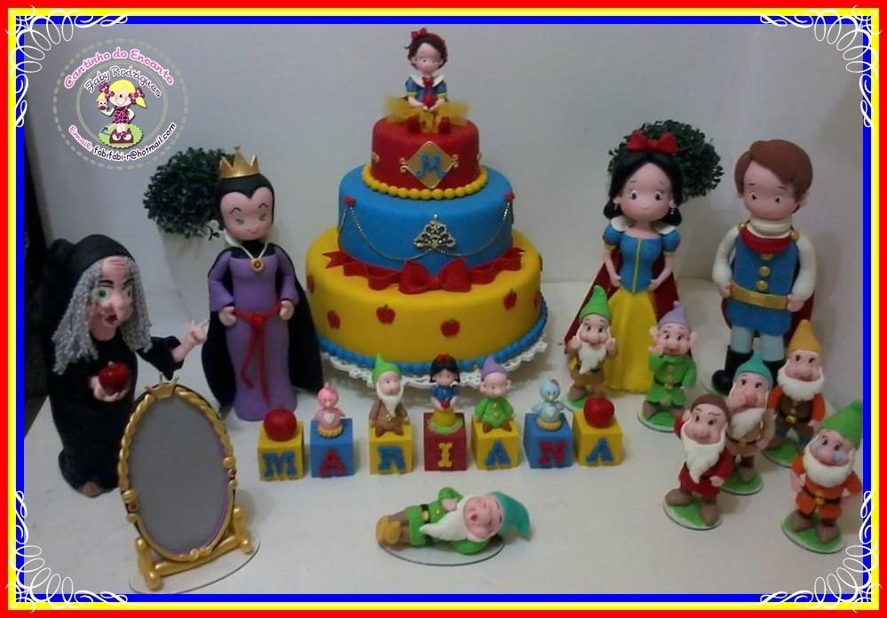 decoracao festa infantil branca de neve provencal:festa-da-branca-de-neve-em-biscuit-branca-de-neve Zoom
