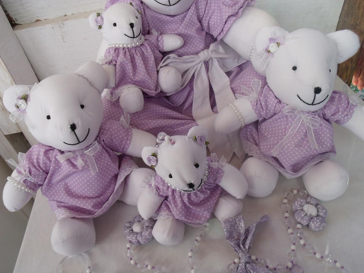 Ursinhas Lilás Decoração de Quarto Bebê  Artes Déda e Lú  Elo7