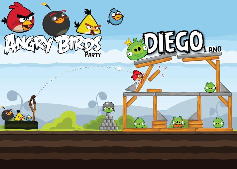 Festa Angry Birds Painel de Parede  Alô Alô Doçura  Elo7