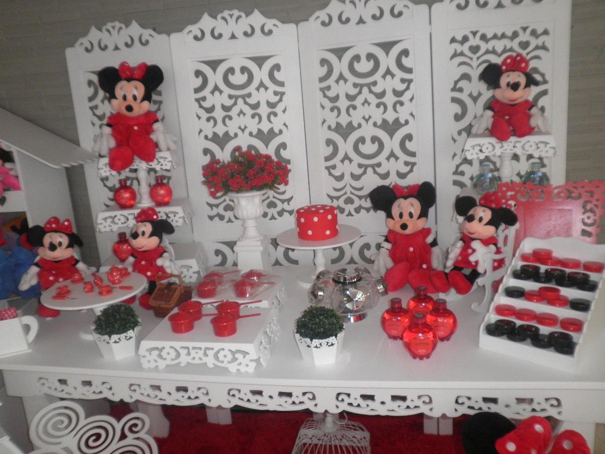 mnnie vermelha decoracao provencal aluguel minie minnie rosa decoracao
