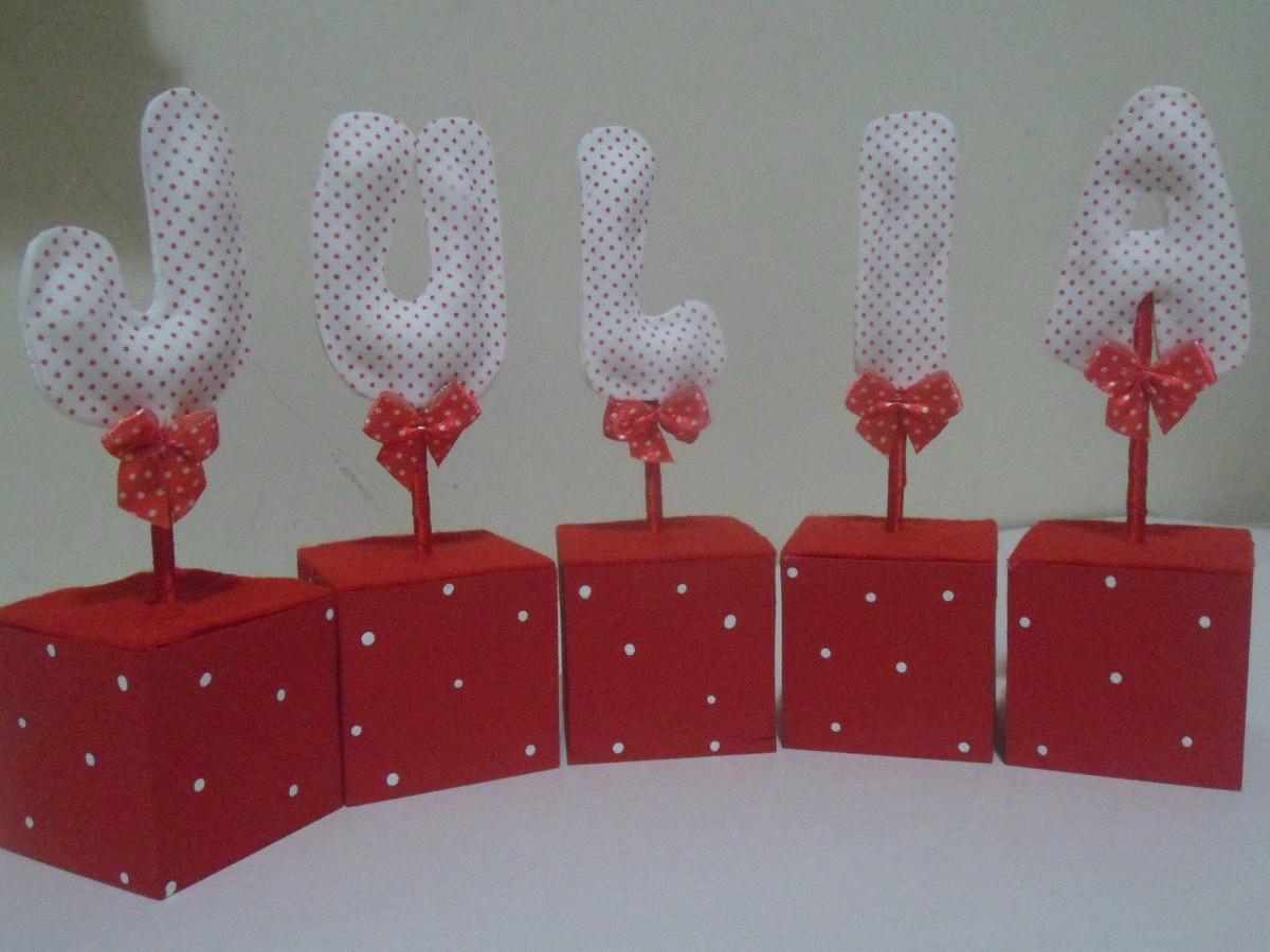 Letras decorativas para mesa artes e trakinagens elo7 - Mesas decorativas ...