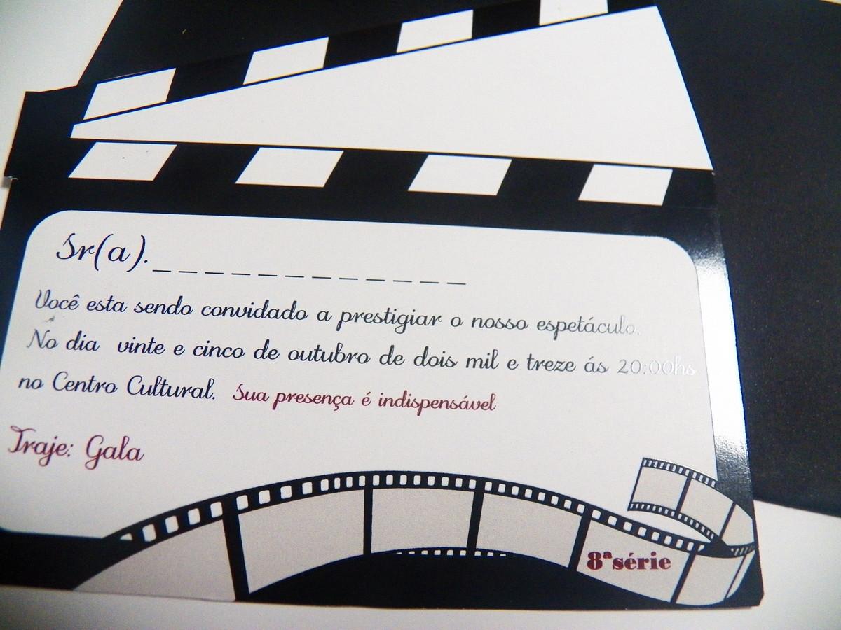 decoracao casamento tema cinema:convite-festa-cinema-papelaria-personalizada convite-festa-cinema