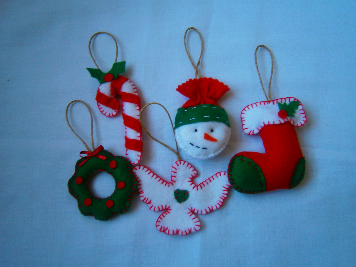 Enfeite De Kit ~ Kit de enfeites de Natal Florbela Artesanatos Elo7