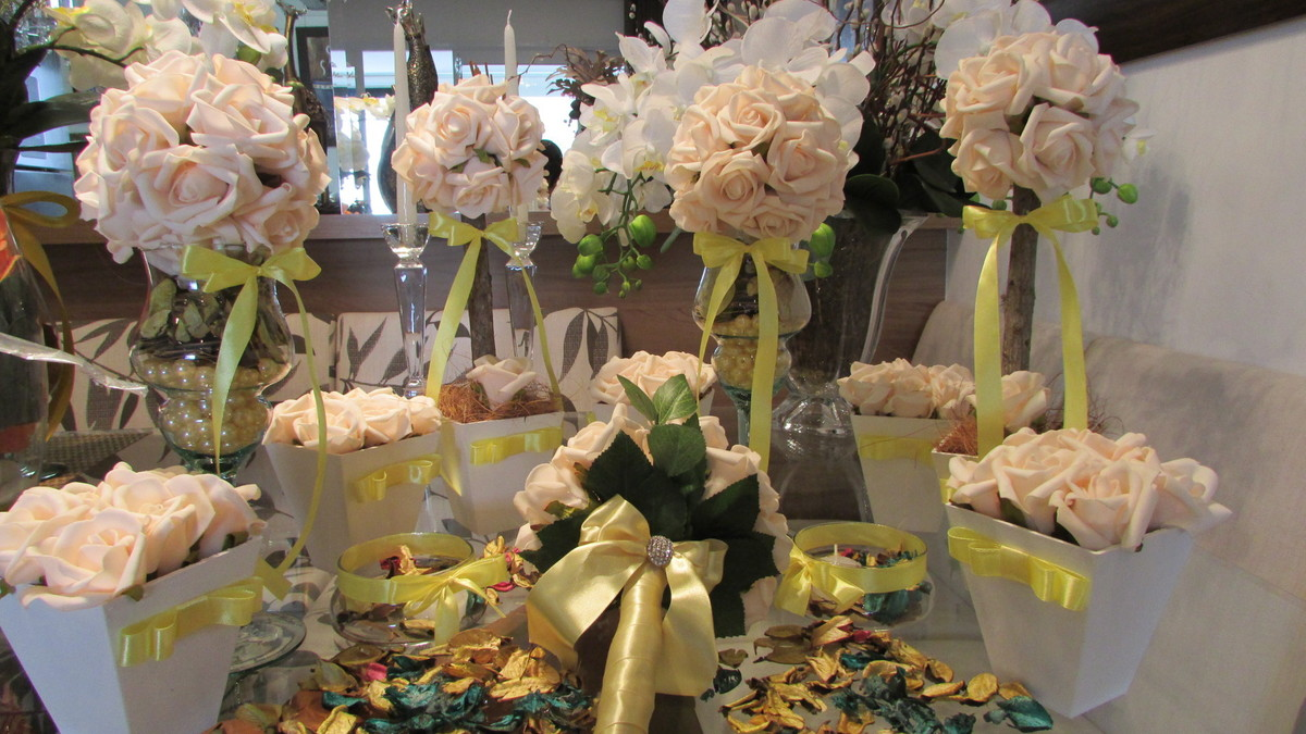 kit decoracao casamento:kit mini casamento ii topiara kit mini casamento ii decoracao rosa kit