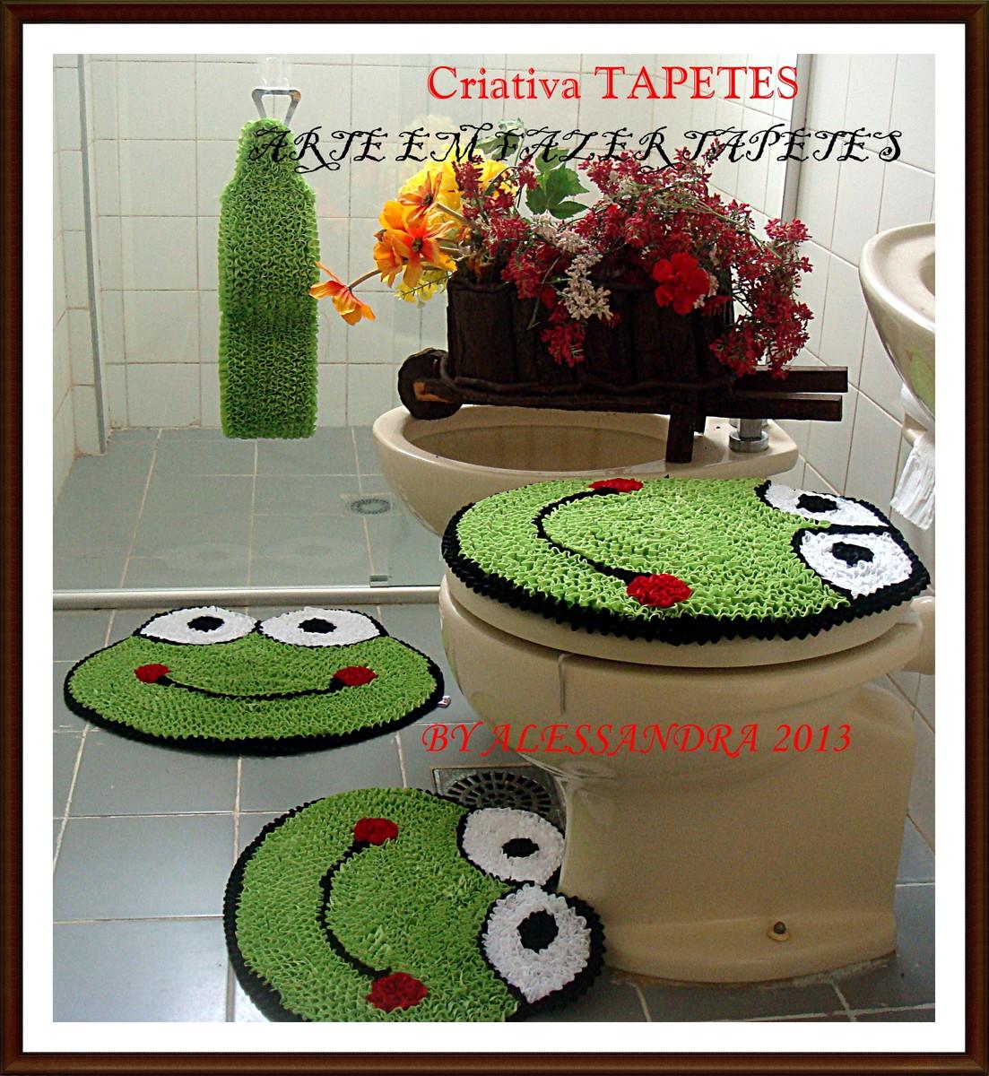 tapete para banheiro sapo jogo de banheiro sapo tapete para banheiro  #6B3828 1103 1200