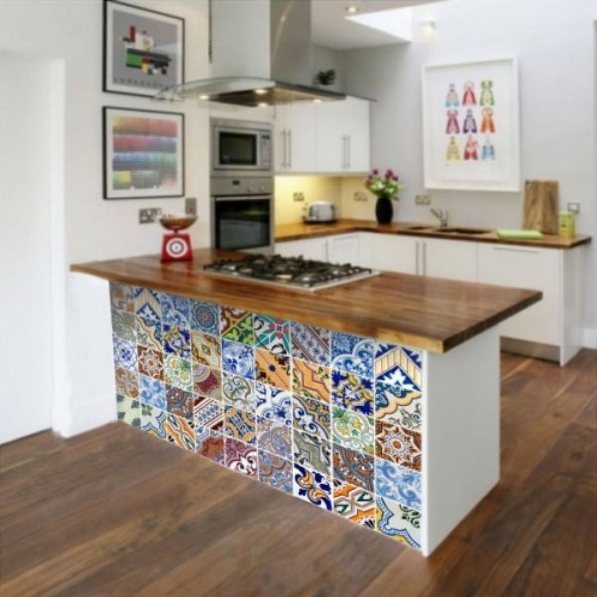 Adesivo de cozinha 431 adesivos comprar e colar elo7 Donde comprar vinilos para azulejos
