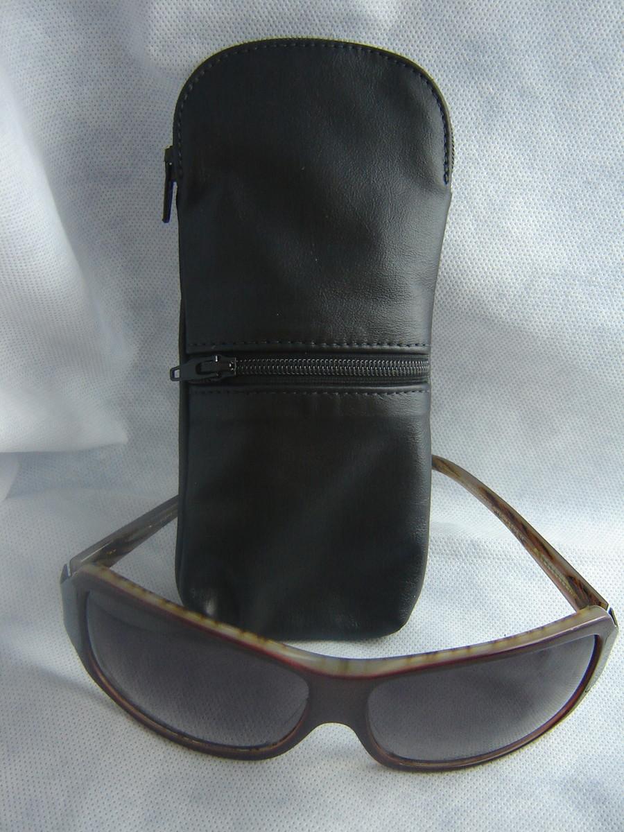 Porta culos cig no elo7 aurilucy artigos em couro 38cf93 for Porta oculos