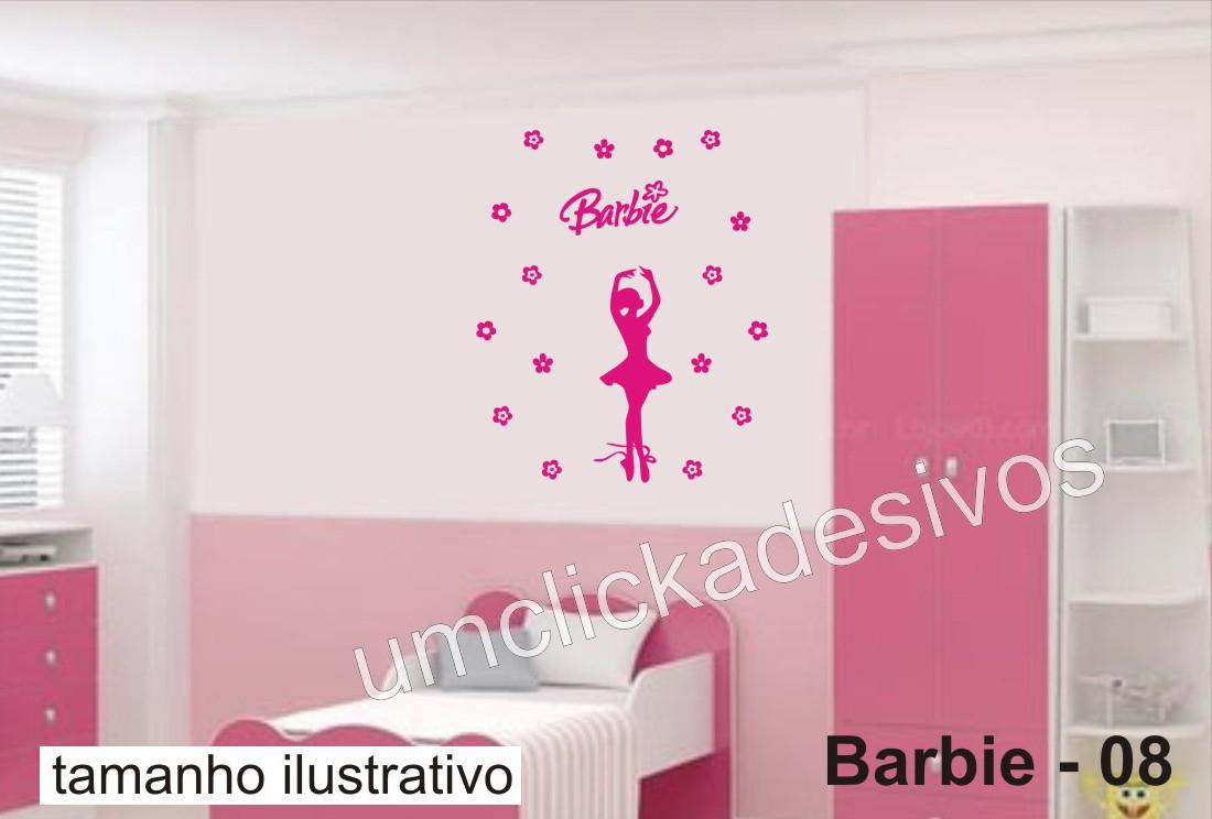 Armario Jardin Bricodepot ~ Adesivo Infantil Meninas Barbie 08 Um click adesivos Elo7